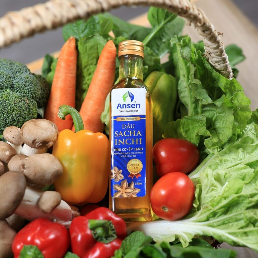Dầu Sacha Inchi chứa nhiều dưỡng chất thiết yếu cho cơ thể