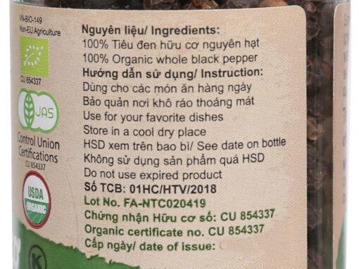 tieu den huu co farmers organic vipep hu 55g 2