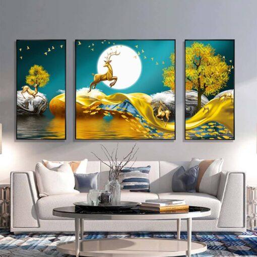 tranh canvas phong khach dep