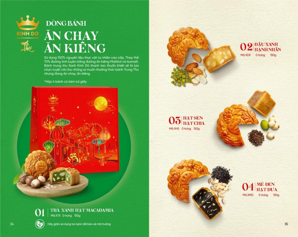 Bánh Trung Thu Kinh Đô - Dòng bánh ăn chay, ăn kiêng