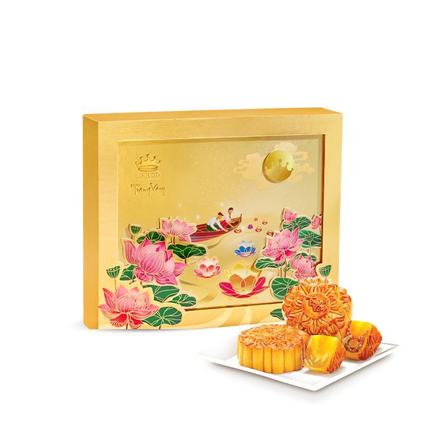 Bánh Trung Thu Kinh Đô Trăng Vàng Hồng Ngọc An Thịnh